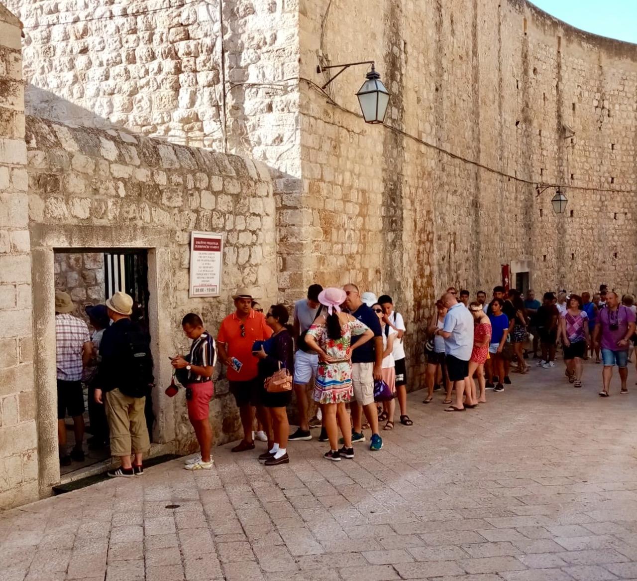 8am queue for the city walls…