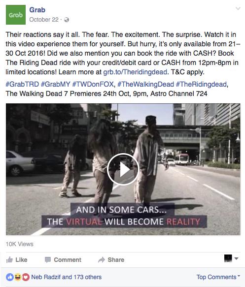 GRAB Facebook promo post