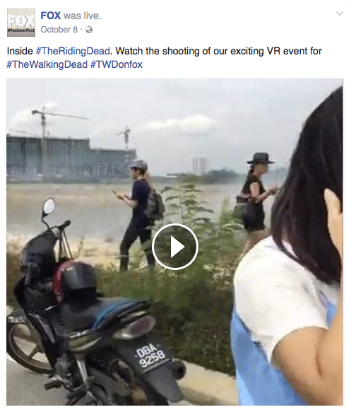 FOX Facebook live streaming during shoot day