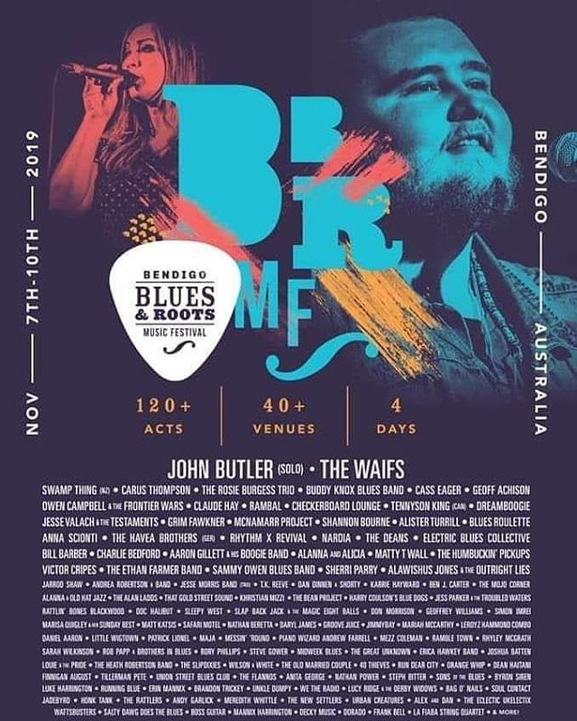 What a line up!! Can't wait for @bendigoblues and roots this year! 🌞 🌿