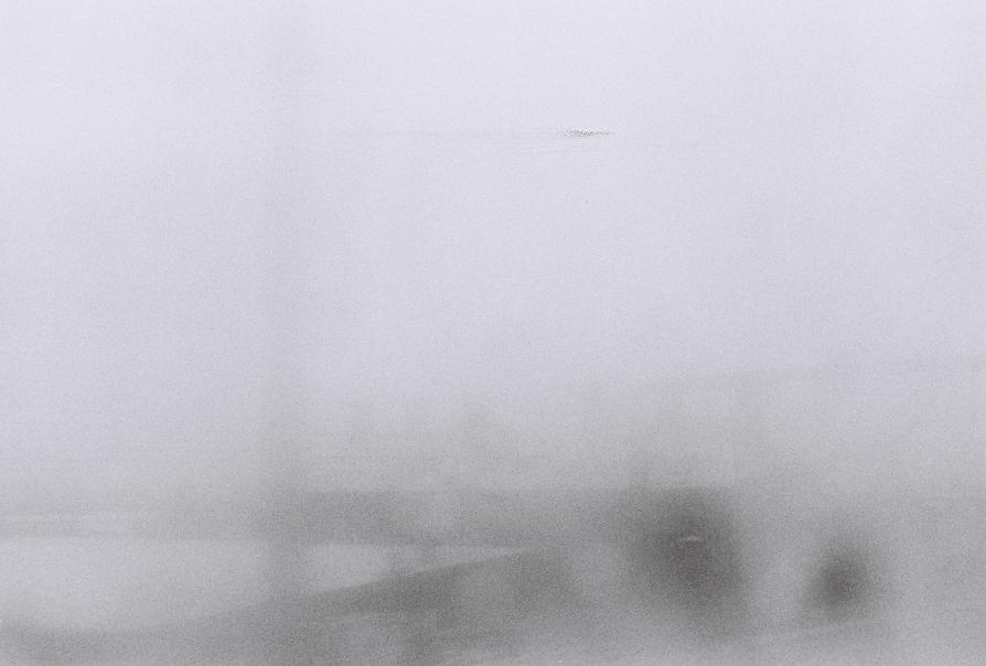 Foggy industrial landscape