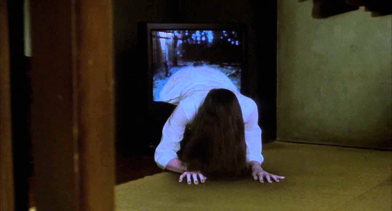 Possibly the perfect hairstyle for when you're watching The Ring.