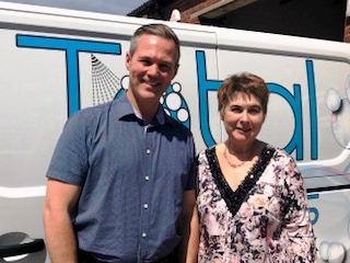 Elaine with Peter Hirsch