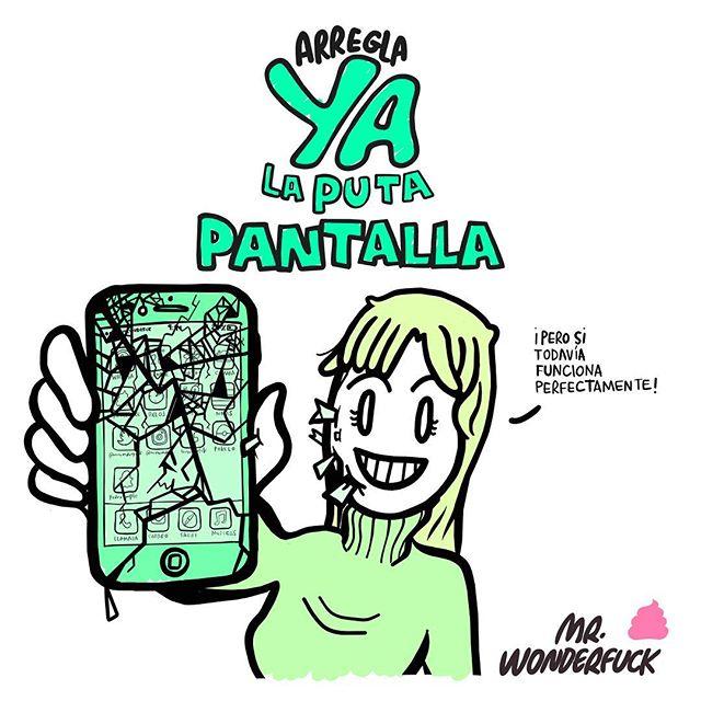 Estampar el móvil a la semana de comprártelo y no volver a leer bien un mensaje en 6 años 🤷🏻♀️📱💥🤷🏻♂️ #mrwonderfuck #iphone #samsung #htc #xiaomi #oneplus #onetoucheasy #screensaver #pantallarota #hashtags