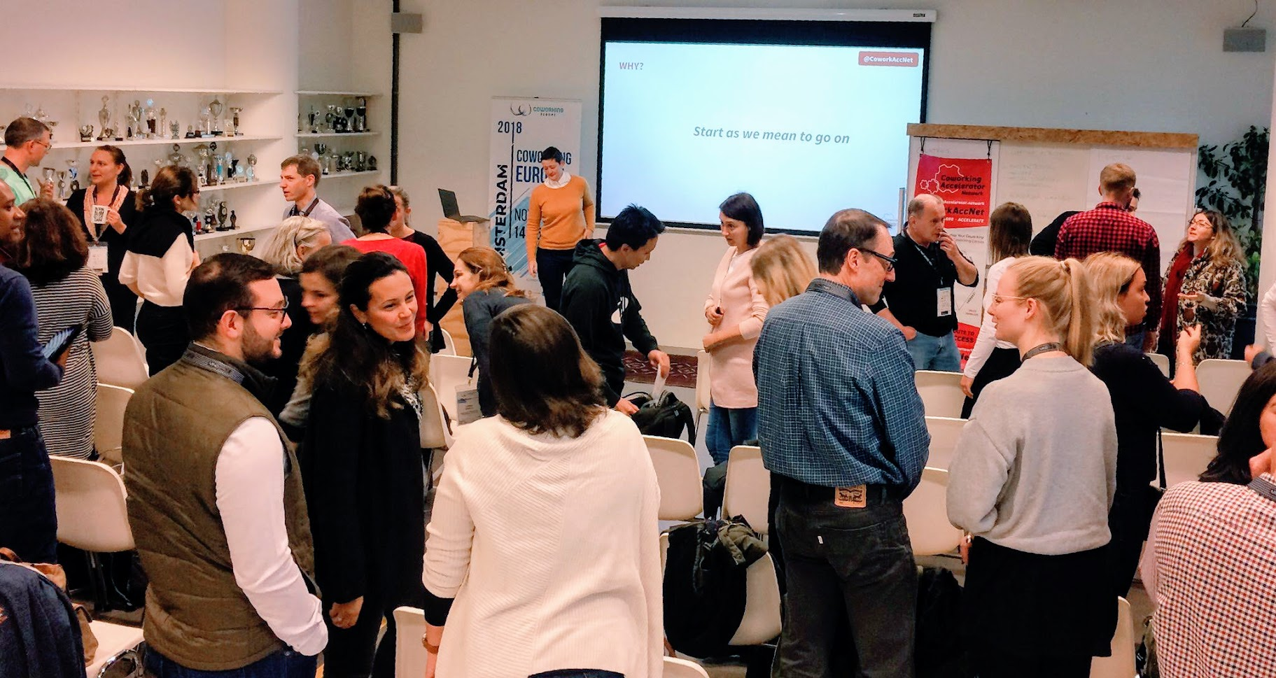 """""""Start as we mean to go on"""": building our community right there and then. Coworking Europe 2018"""