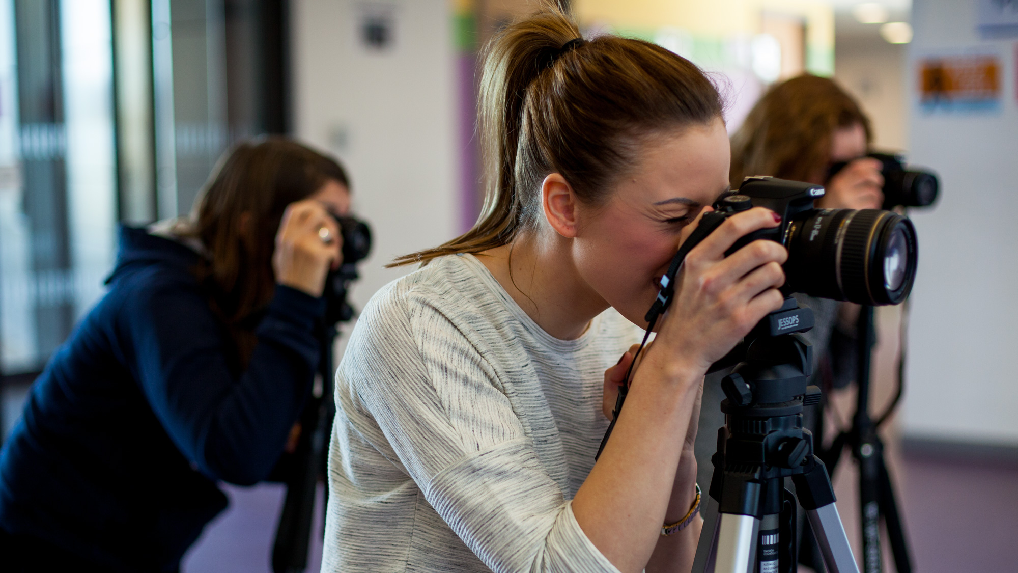 Photographers learning on our course