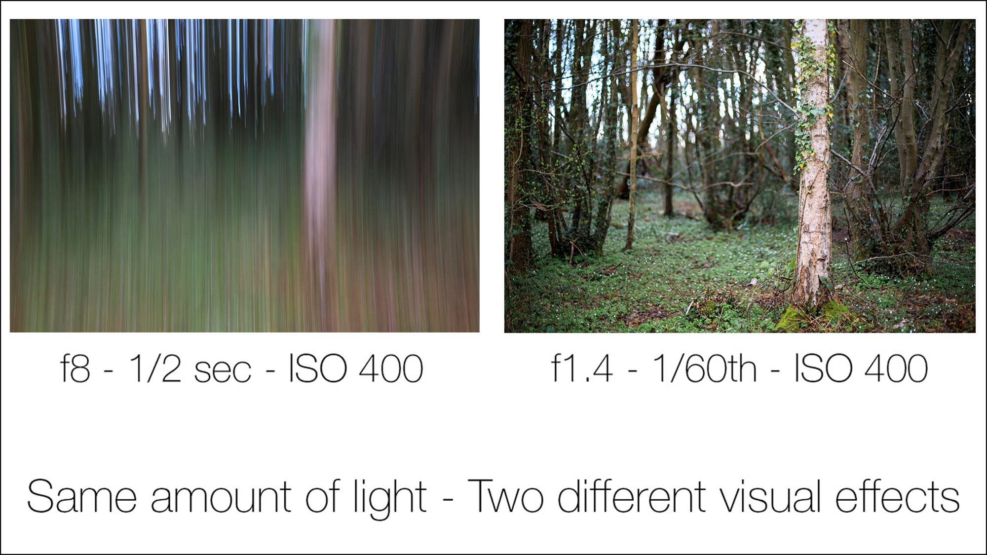 Lesson 11 – Balancing exposures - This lesson will see you take full control over the exposure of your shots. You will combine your newly learnt knowledge of Apertures, Shutter Speeds, and ISO to manually expose shots for varied creative effects. You will gain in depth knowledge on what stops are in photography and how you control them to take full control over the exposure and visual effects of your photography. You will also be shown how to use your camera in fully manual mode and put all this into practice in set tasks.