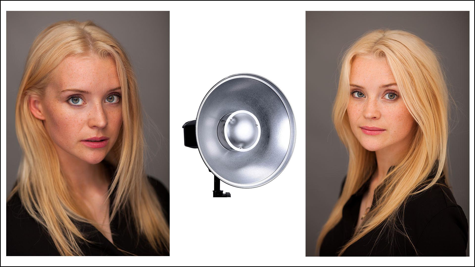 Lesson 14 – Using a Beauty Dish - A beauty dish is used a lot in fashion or model portraiture. In this lesson we'll look at the effects of beauty dishes and how you can mix this effect with reflectors to enhance subtle details in the face. We'll also be looking at how to create a neutral grey background without having one!
