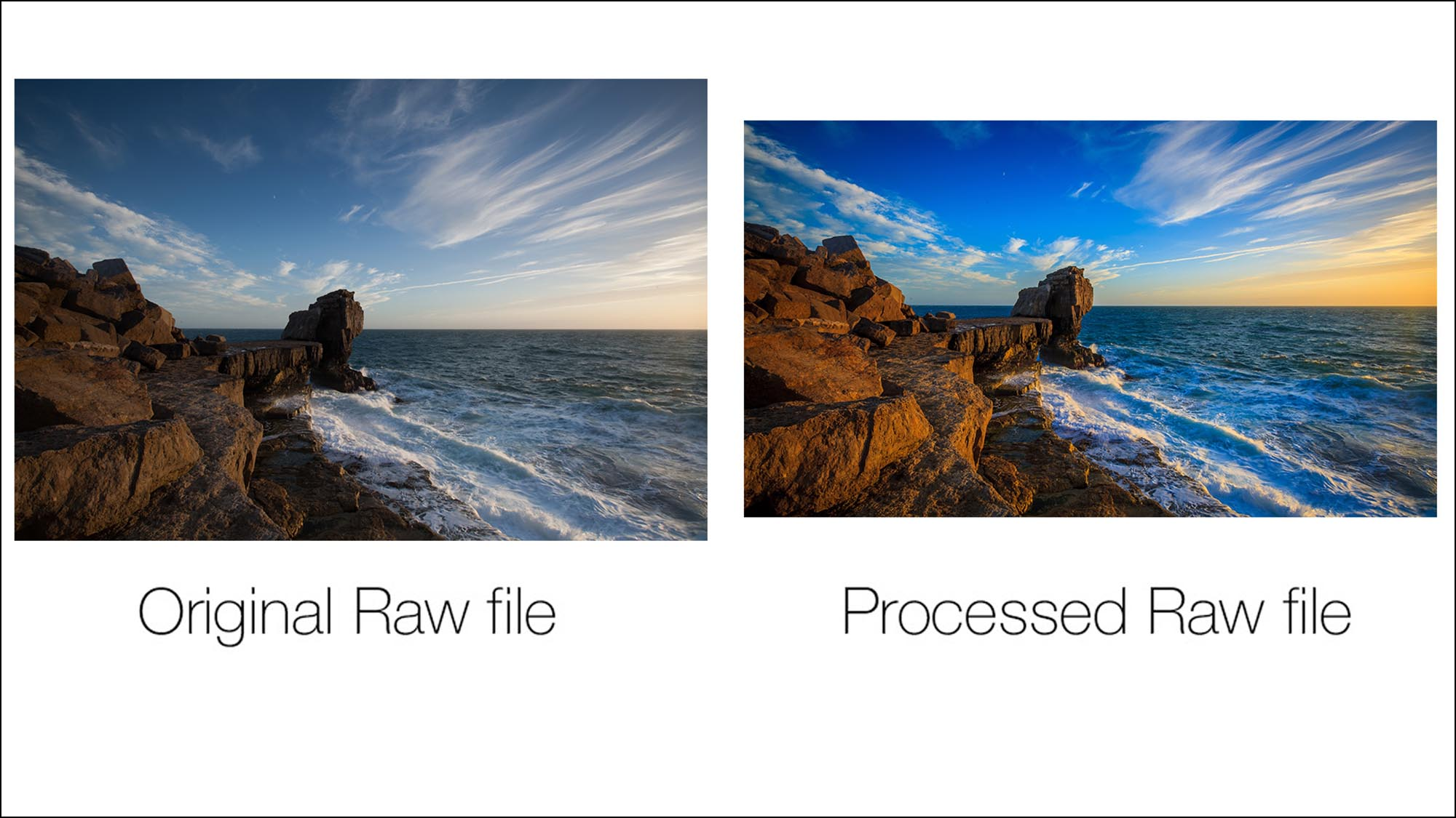 Chapter 16 – Post production and Raw Files - Here you will be introduced into your next stage of photographic excellence – The post production of images! We will look at how post processing programs such as Lightroom and Photoshop can enhance the look of your photography. You'll also be shown the benefits and when to be shooting in Raw and how to process one!