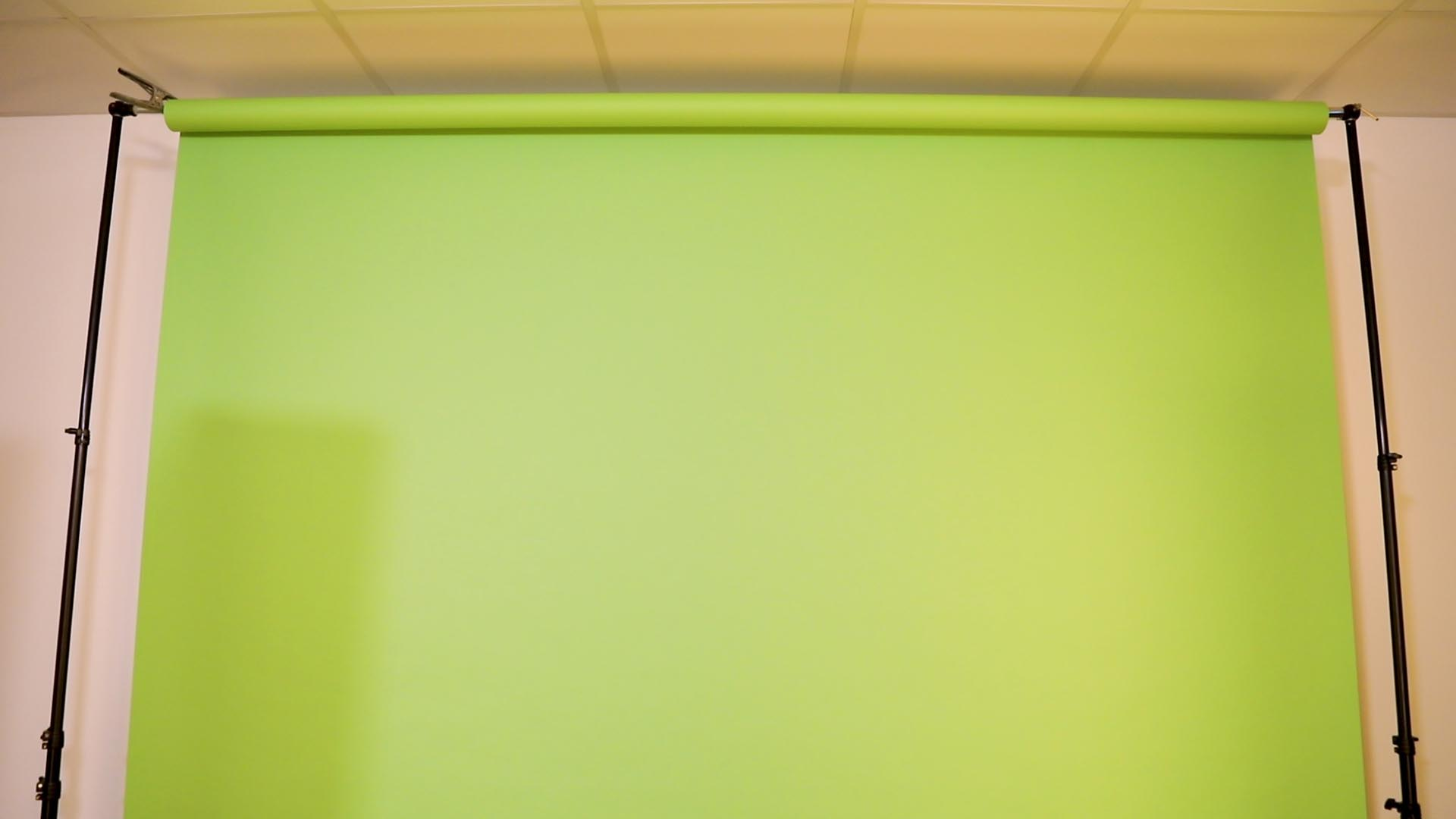 Example of a Green Screen.