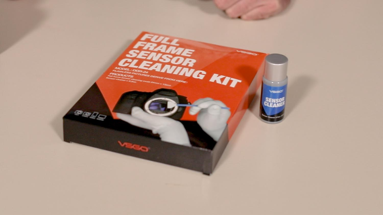 Example of a camera sensor cleaning kit