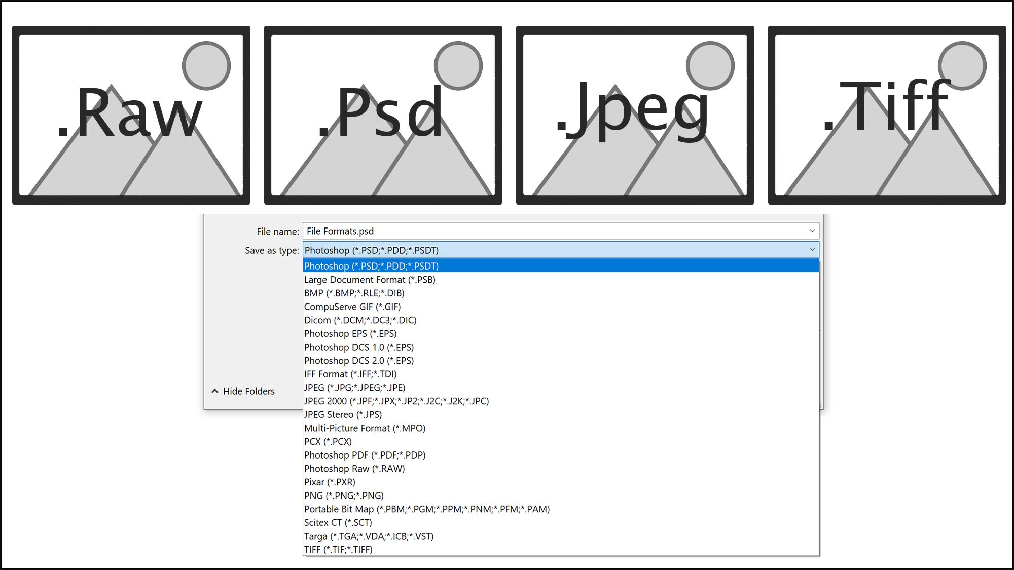 Lesson 4 – Saving in different file formats - Photoshop seems to give you endless ways to save files! In this lesson you'll learn what ones suit the photographer and why you use different file formats for different situations such as saving for print or web.