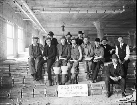 Workers in Warehouse  courtesy of Seattle Municipal Archives