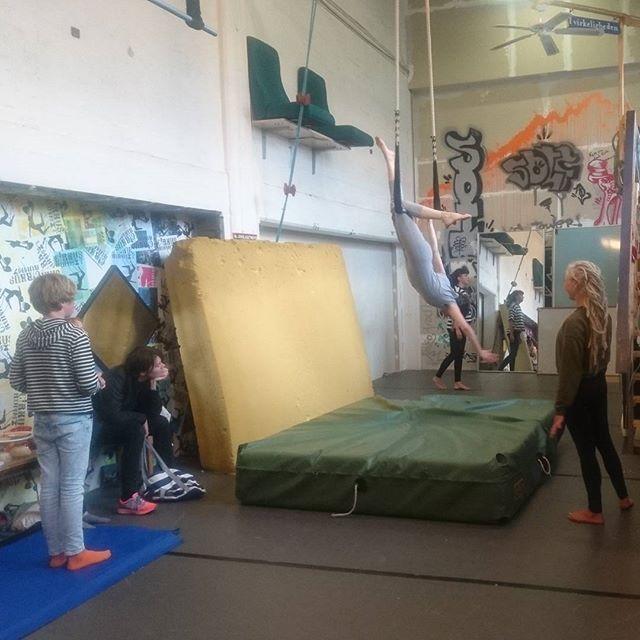Det er onsdag. Det betyder jonglering, dans og leg i luften! #circuseverydamnday  #cirkus #kultur #sydfyn #svendborg