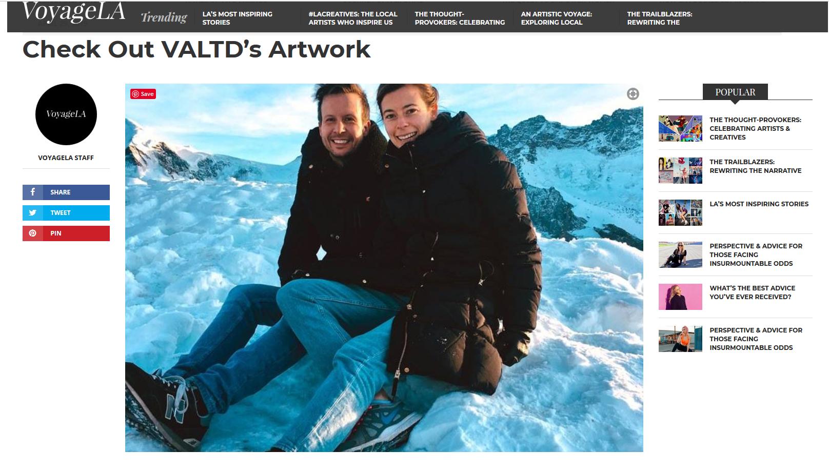 Clip from VoyageLA.com 's article 2019. Picture: Gornergratt, Switzerland.