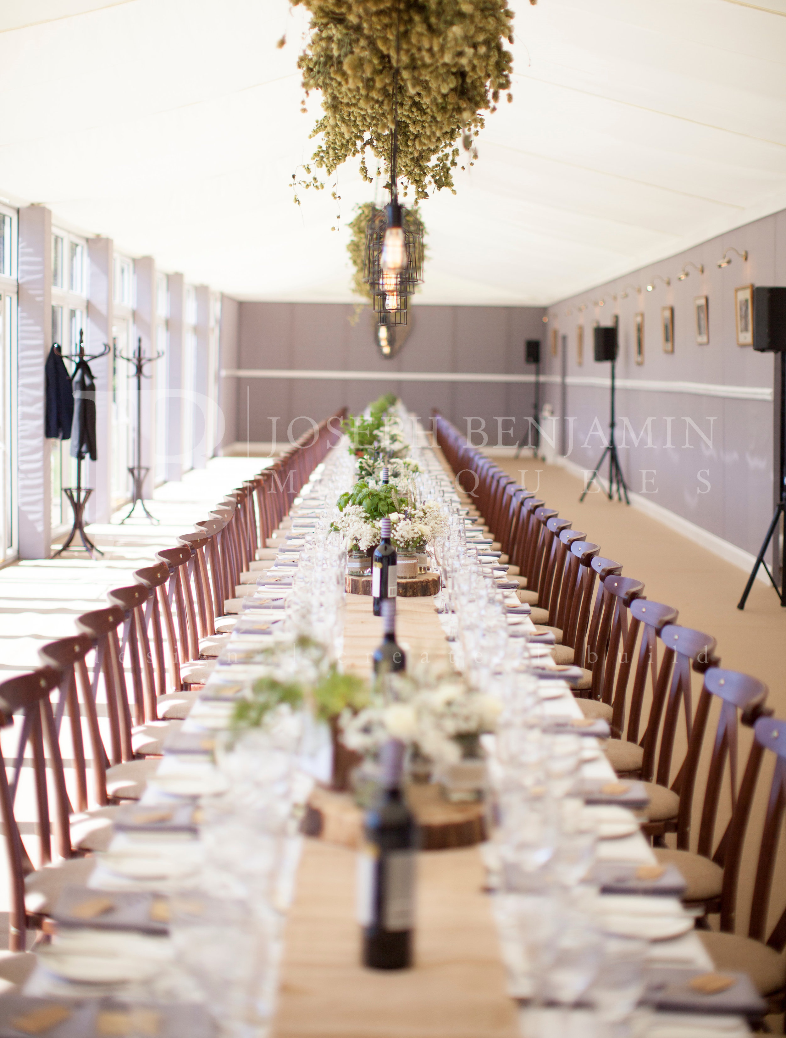 Wedding Marquee Interior Table Setting