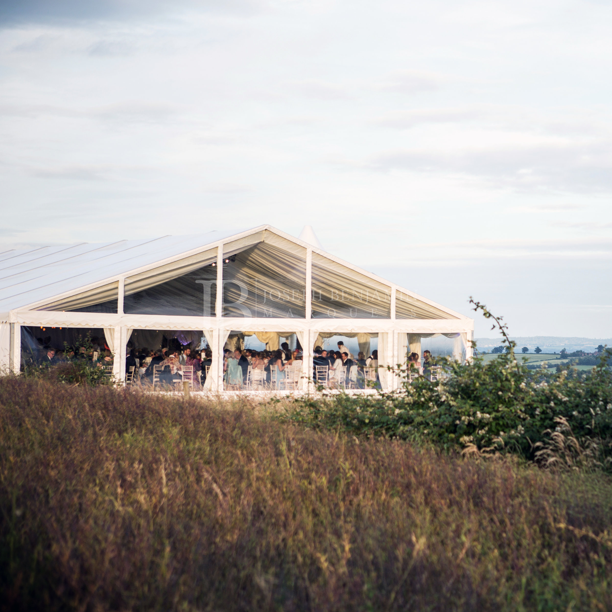 Raised Floor Wedding Marquee Exterior