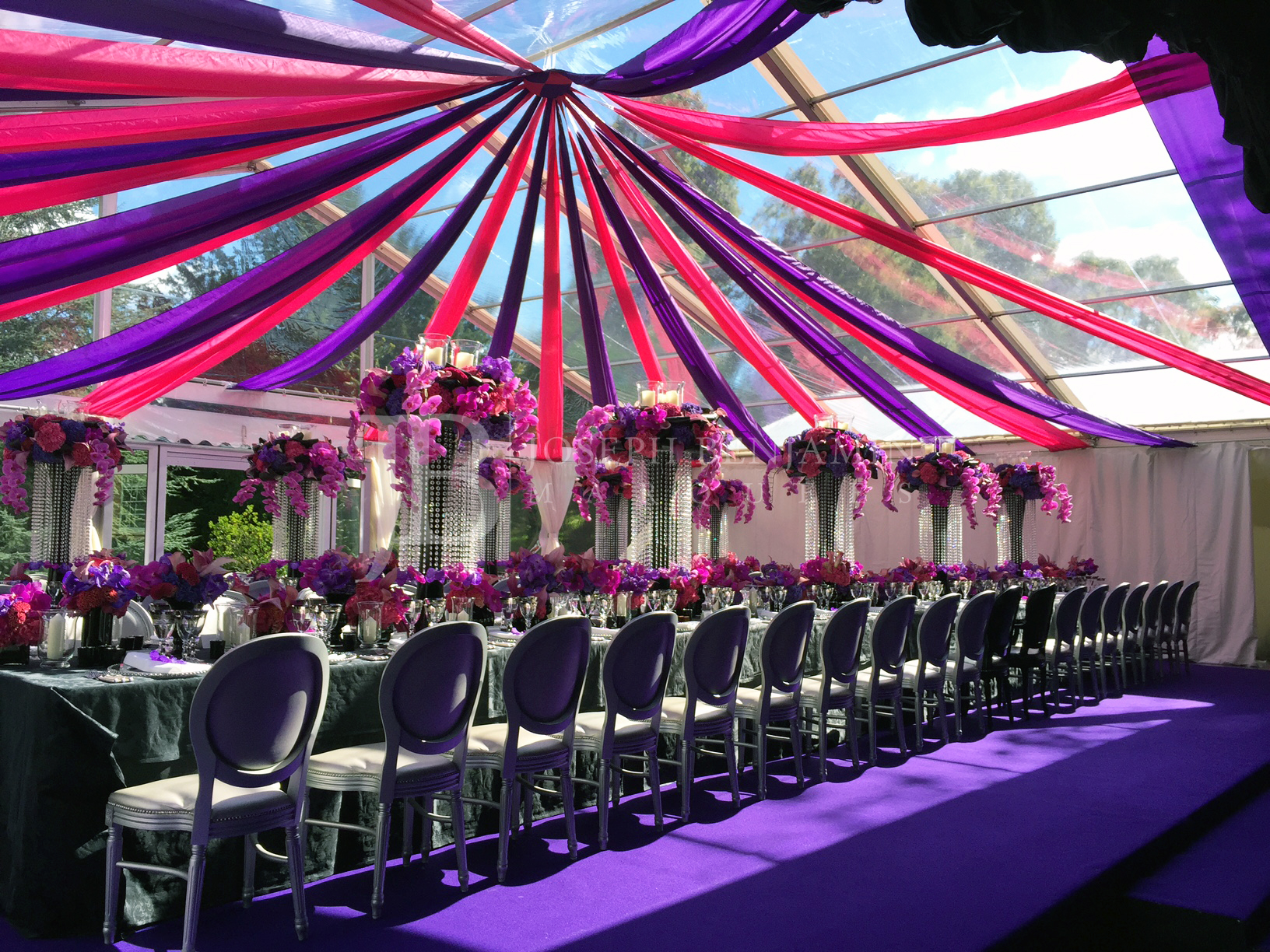 Raised Floor Wedding Marquee Interior Decoration