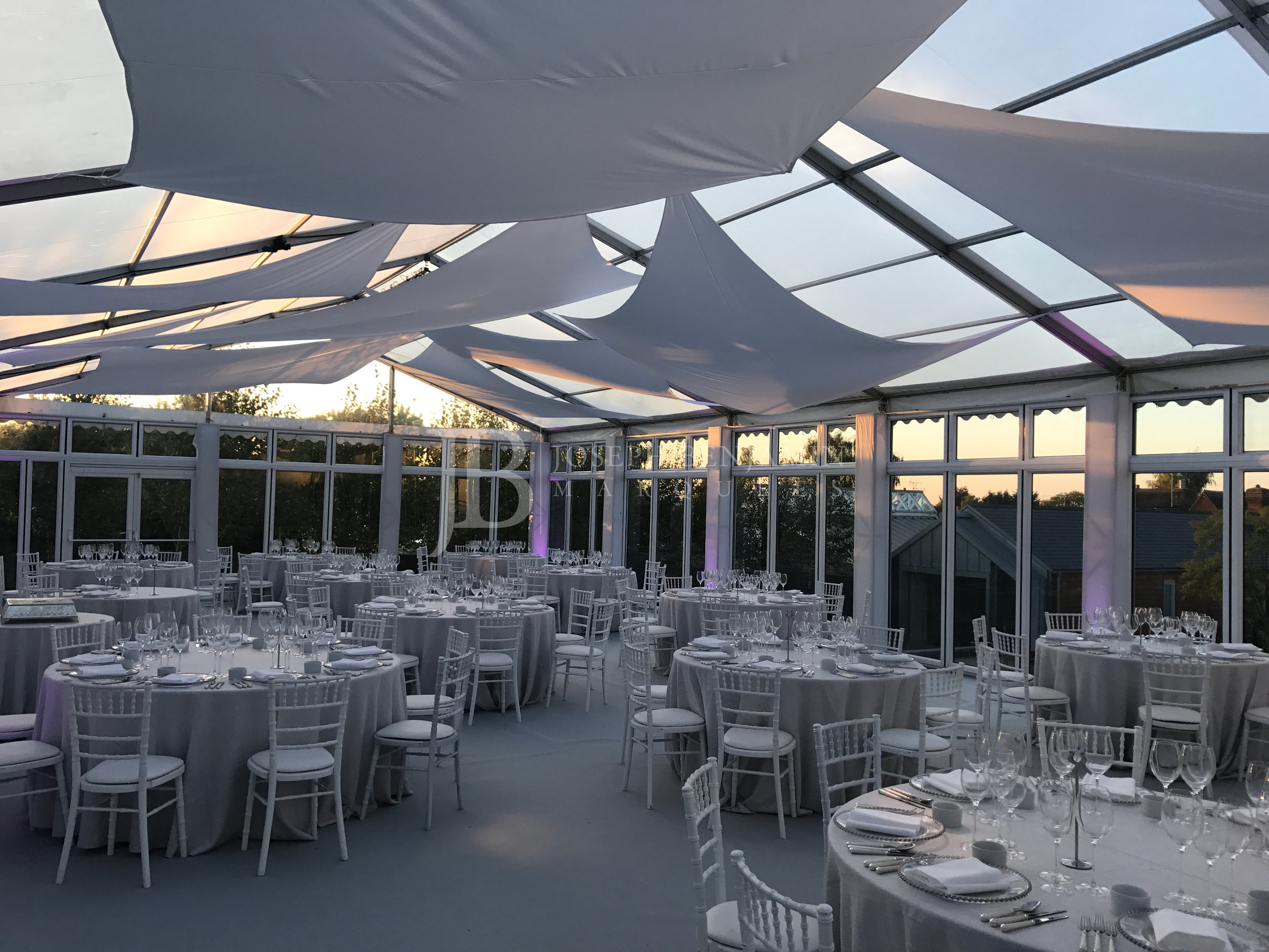 Raised Floor Wedding Marquee Interior