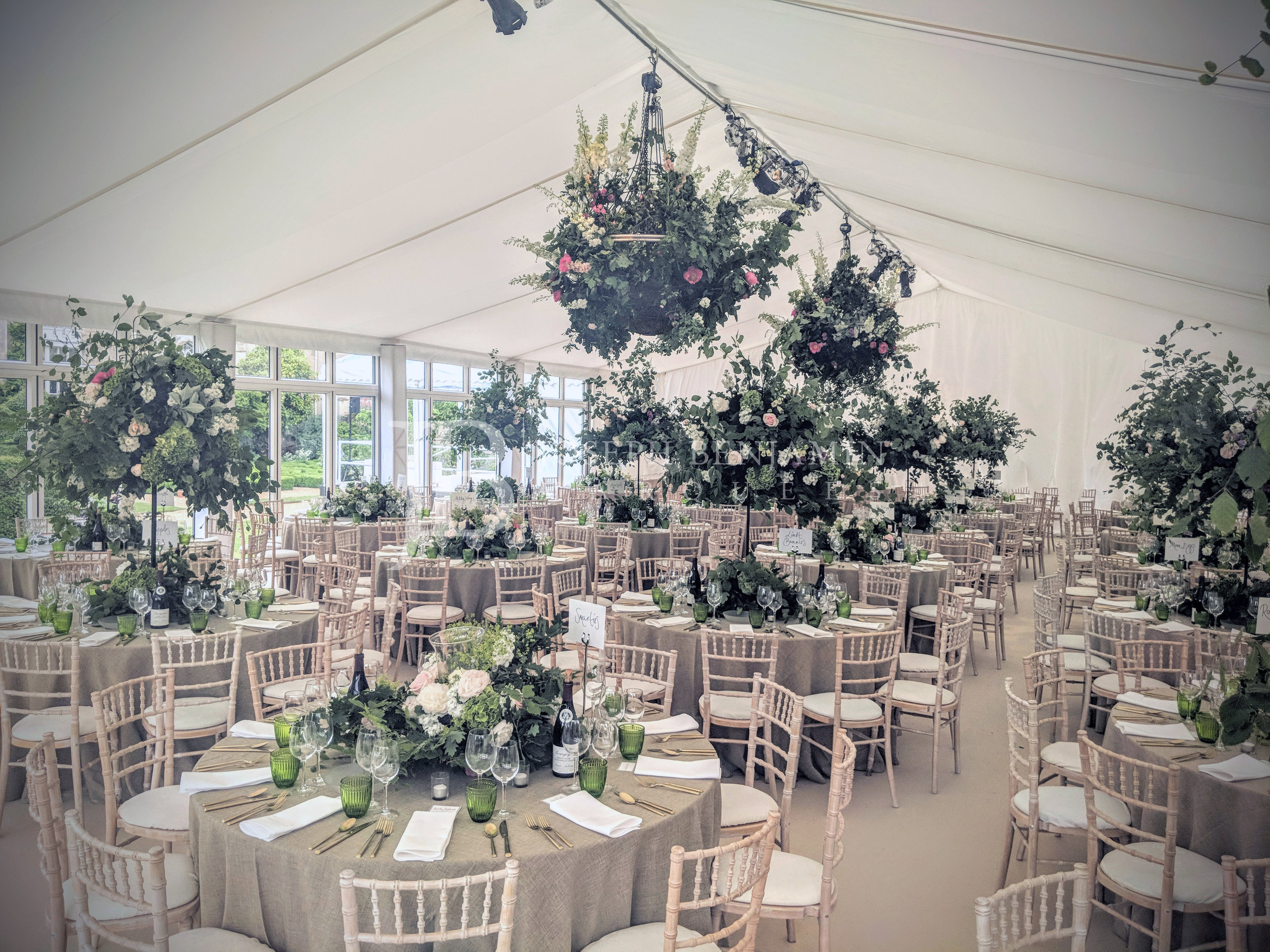 Raised Floor Wedding Marquee from Joseph Benjamin Marquees