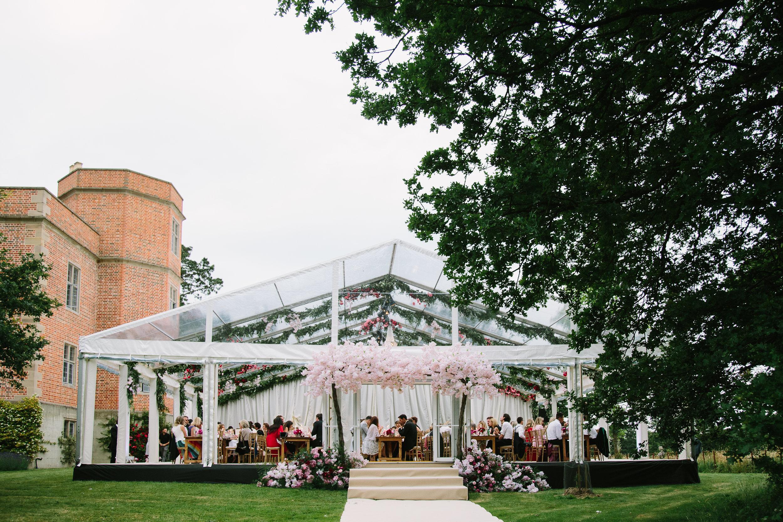 Raised Floor Wedding Marquee Buckinghamshire