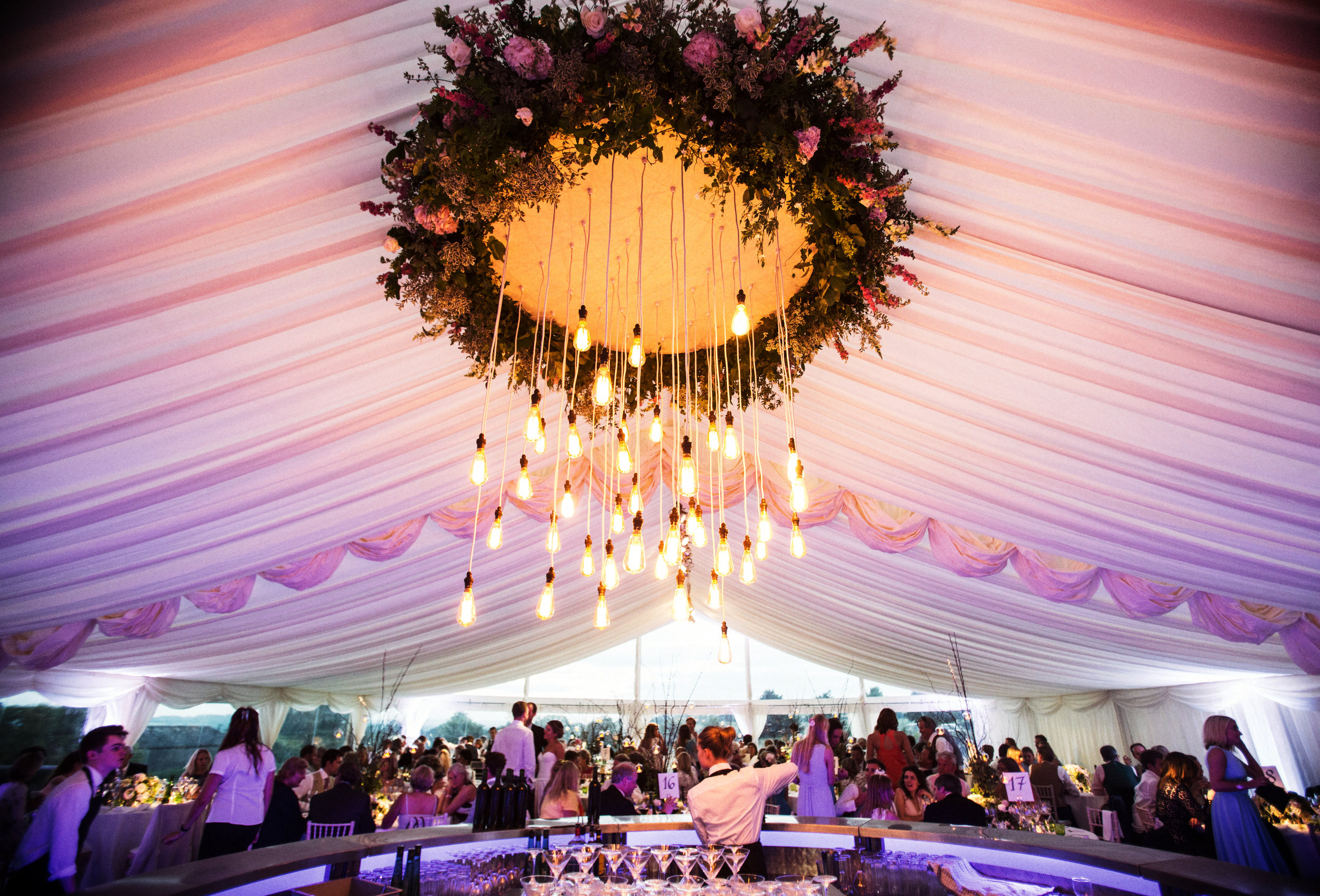 "the results. - ""Just wanted to say a HUGE thank you for creating our dream marquee for our wedding. Literally everything you did was so incredible and professional, you blew us and all the guests away! We can't thank you enough for al of your hard work and for helping make our wedding day absolutely perfect. Thank you!!!"""