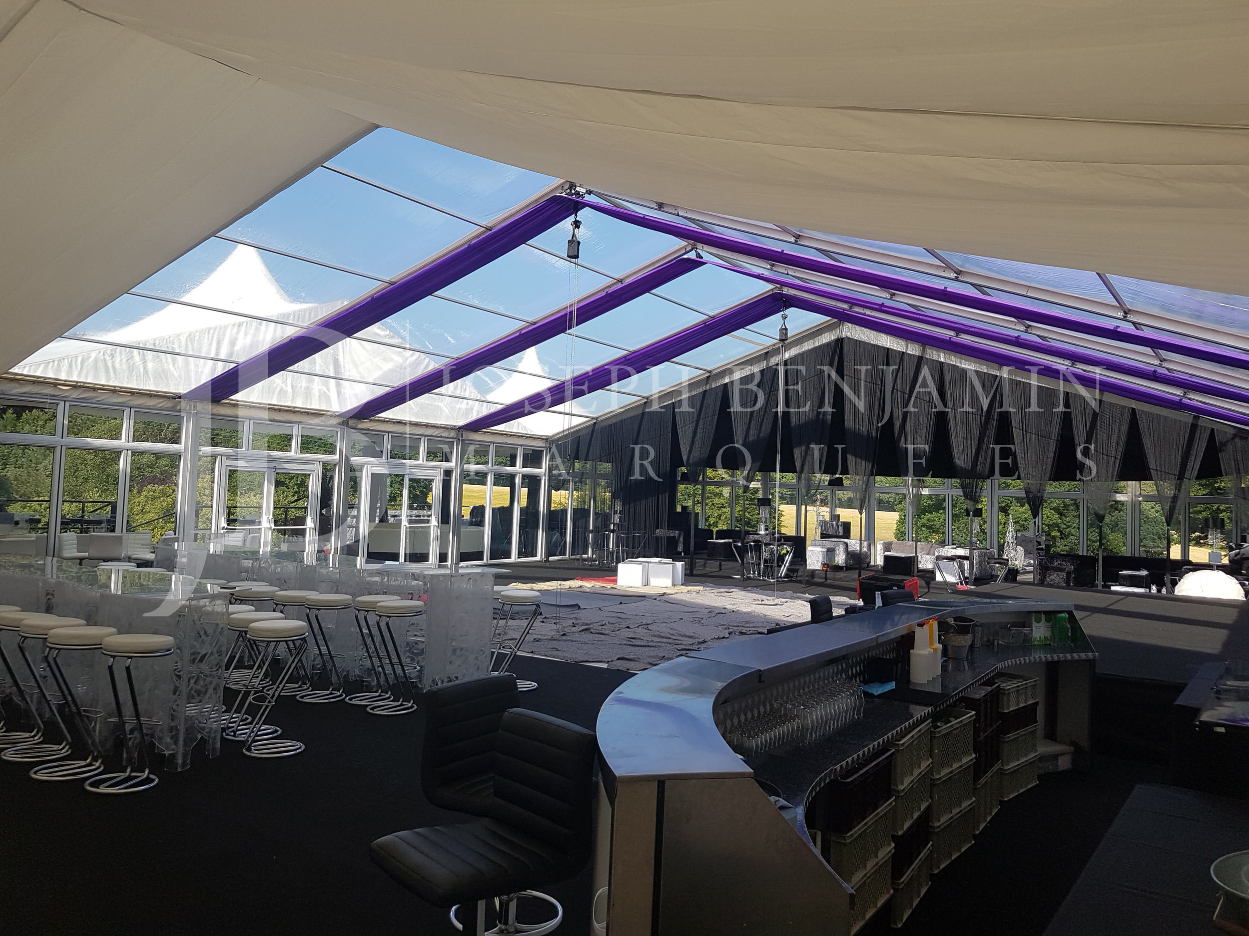Marquee Designed by Joseph Benjamin Marquees for a Corporate Summer Party