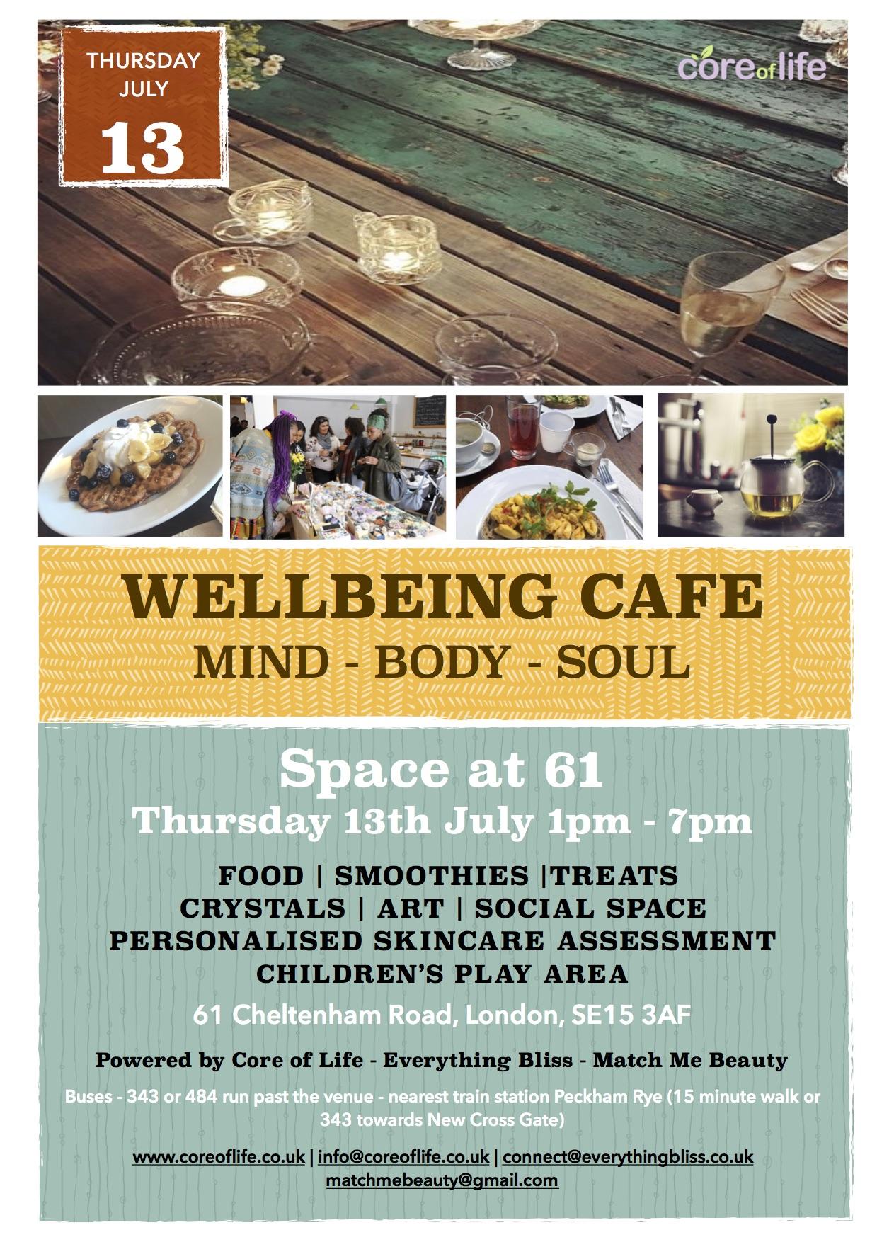 www.coreoflife.co.uk - Wellbeing Cafe
