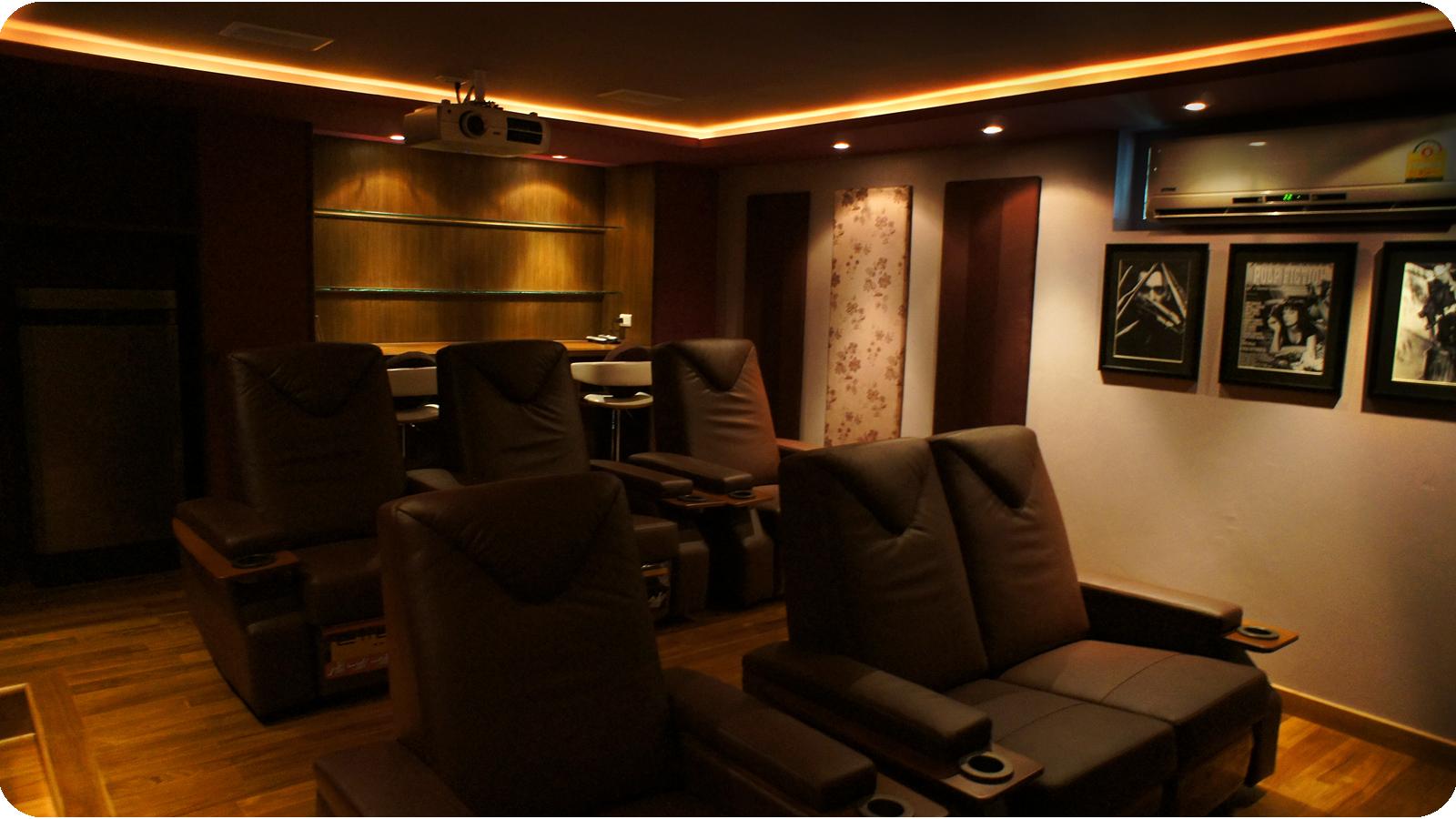 Rear view of eventual Home Cinema