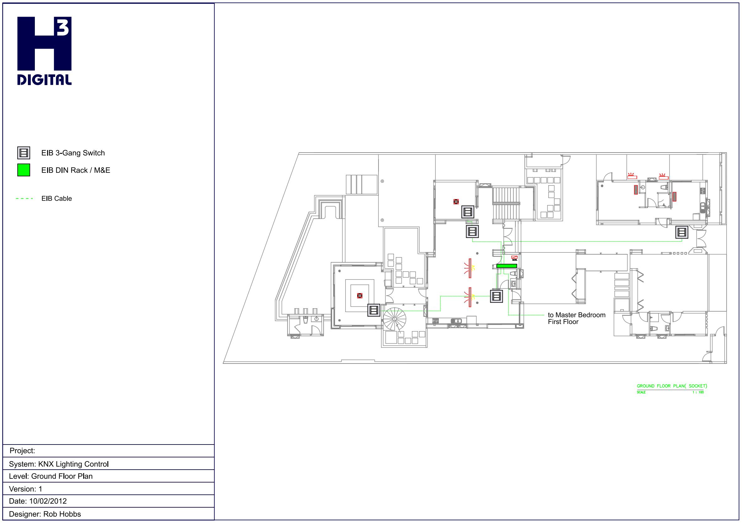 Example - Common Area Lighting control - Lower Level