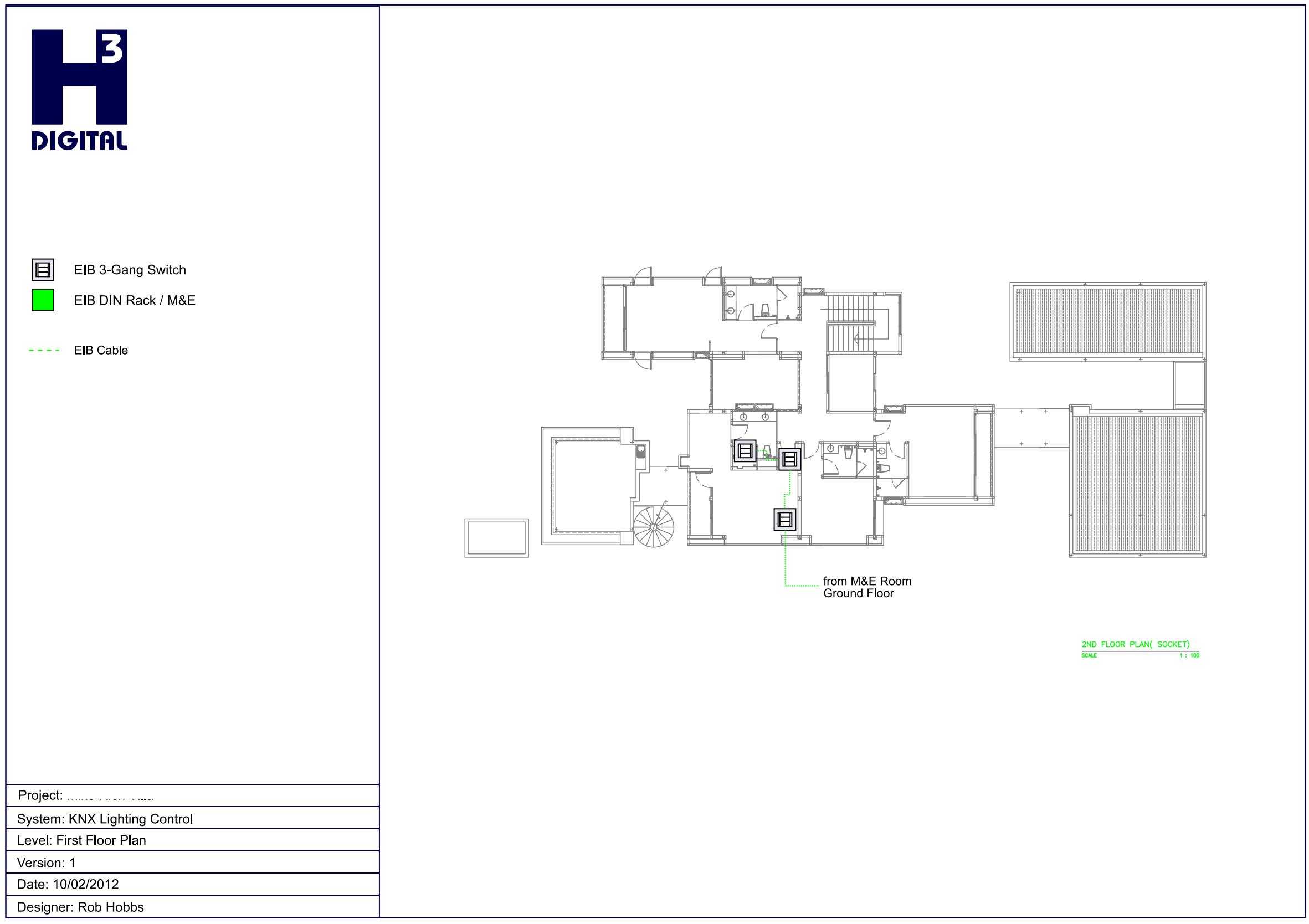 Example - Common Area Lighting control - Upper Level