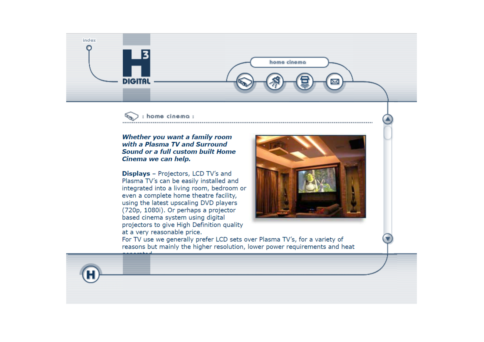 Home Cinema page from 2005