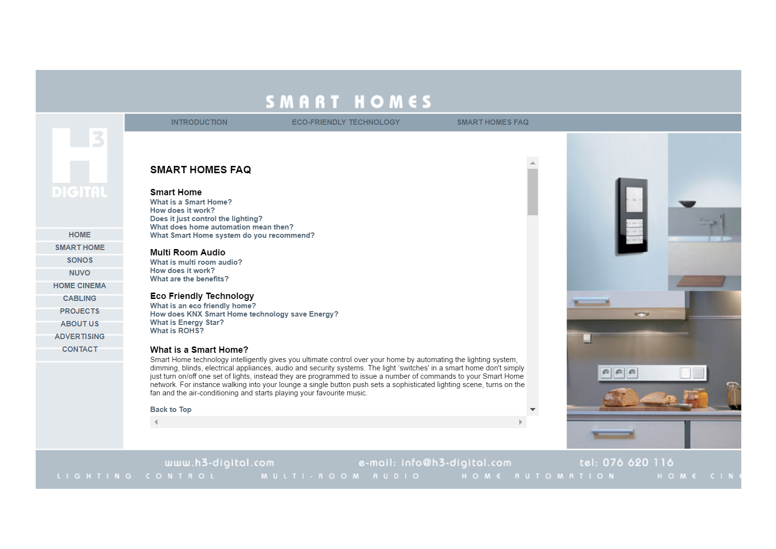 Smart Homes FAQ in 2009