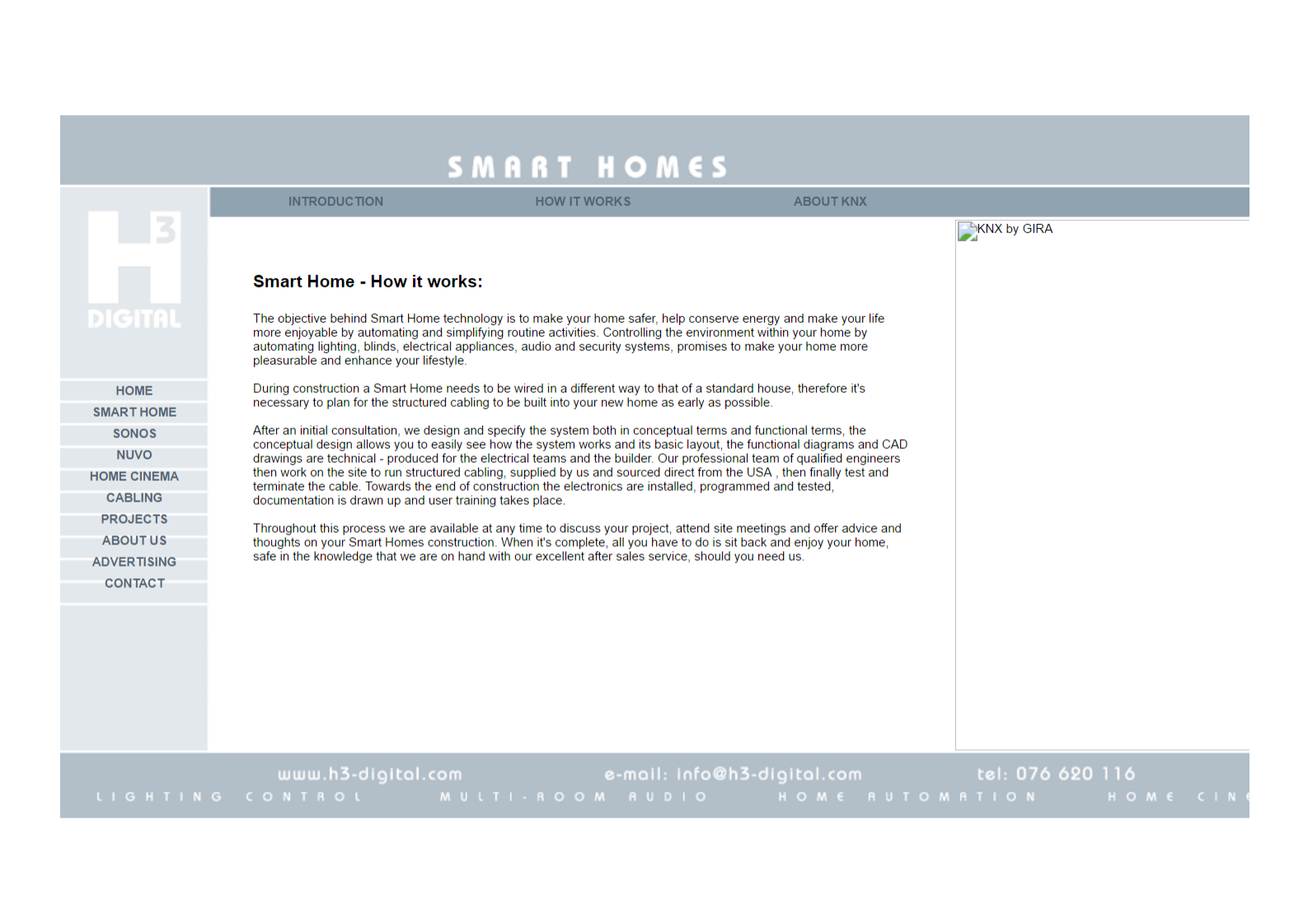 Smart Homes Page from 2009