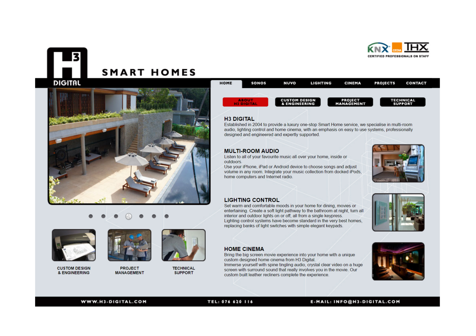 2012 H3 Digital Home page