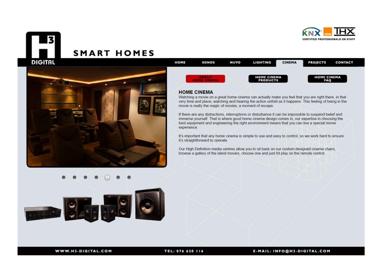 2012 Home Cinema web page