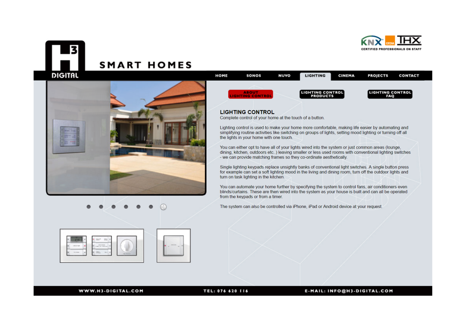 2012 Lighting control web page