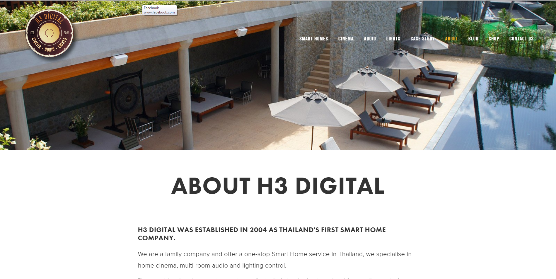 2016 About H3 Digital page