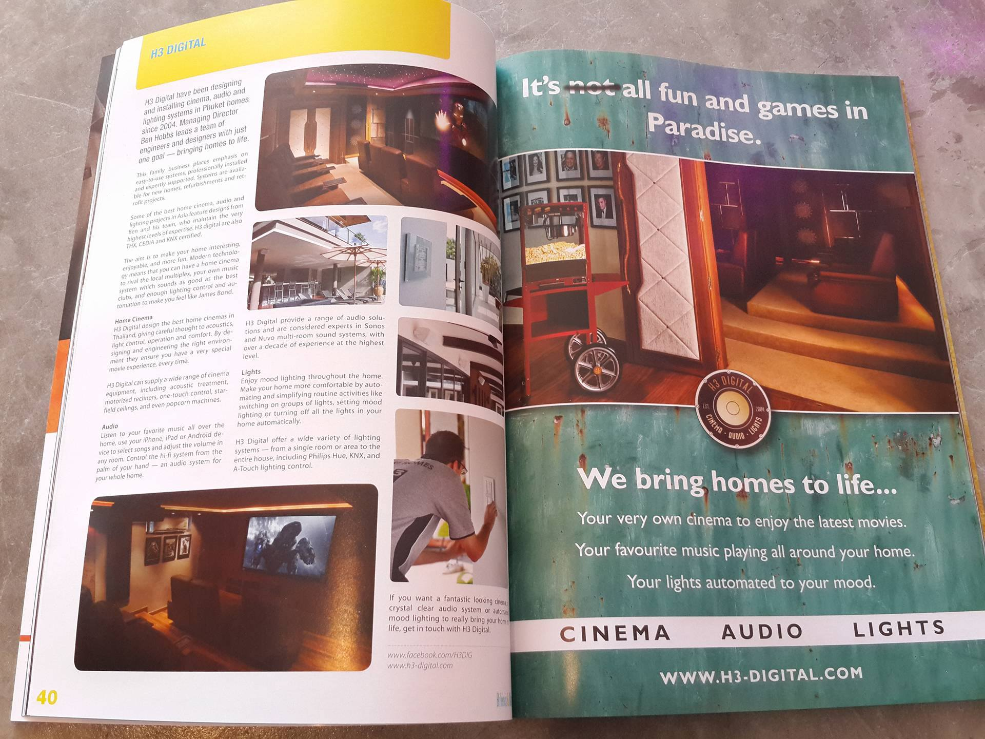 Another magazine feature about Home Cinema in Thailand from H3 Digital.