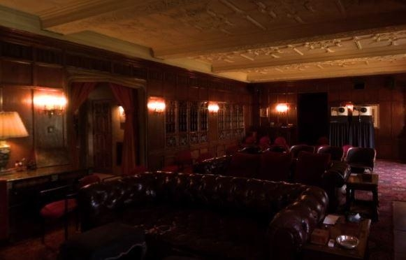 Home Cinema (Hugh called it the movie room) seating area.