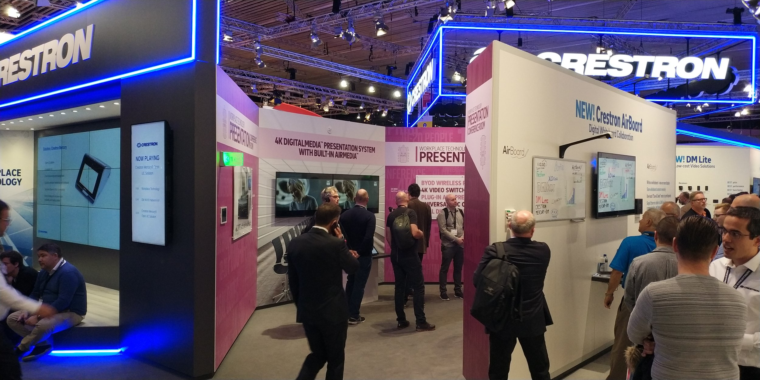 Crestron had a strong show presence at ISE 2018