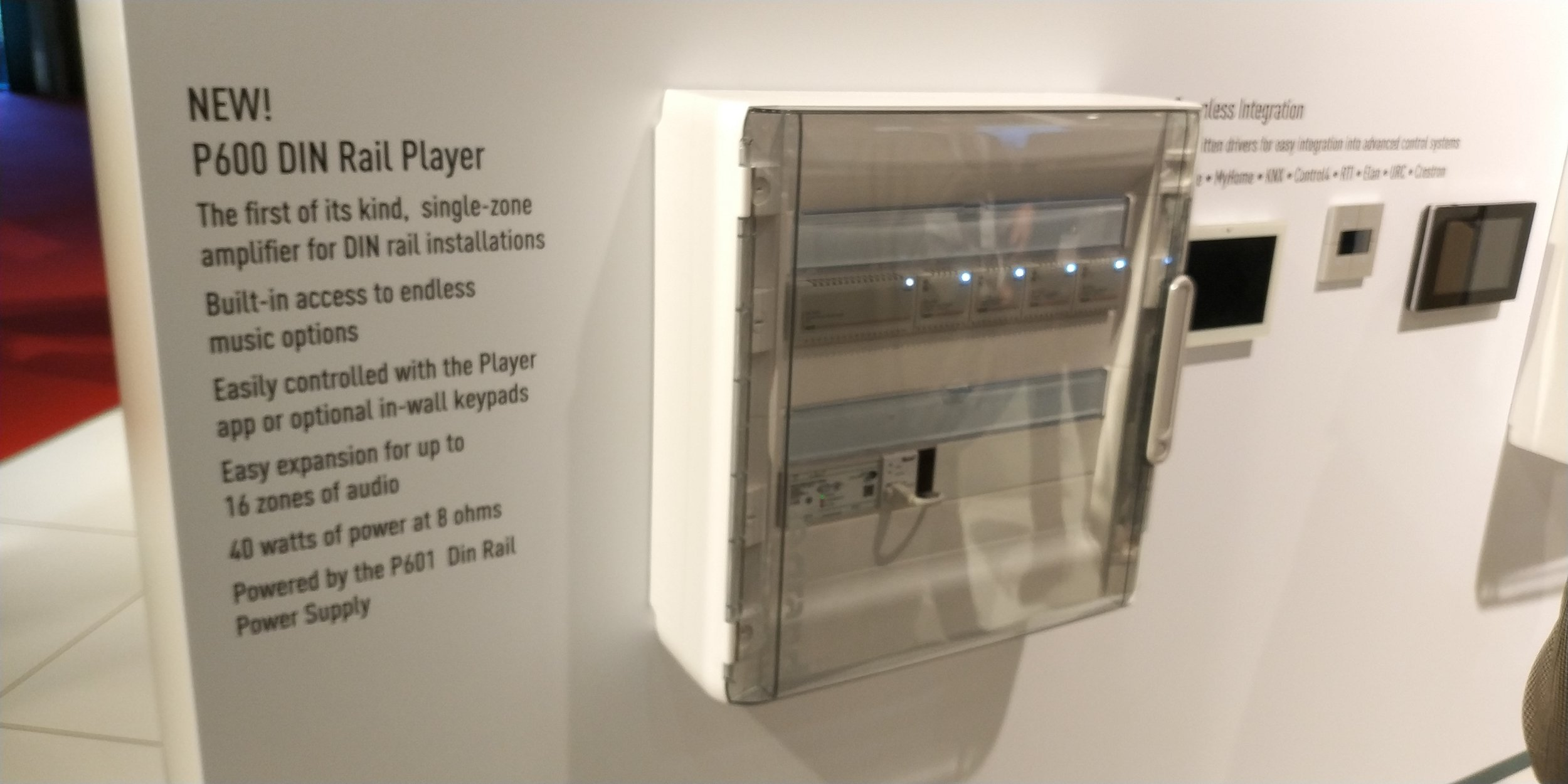 Nuvo's DIN mounted distributed audio amplifier for music all over your home.