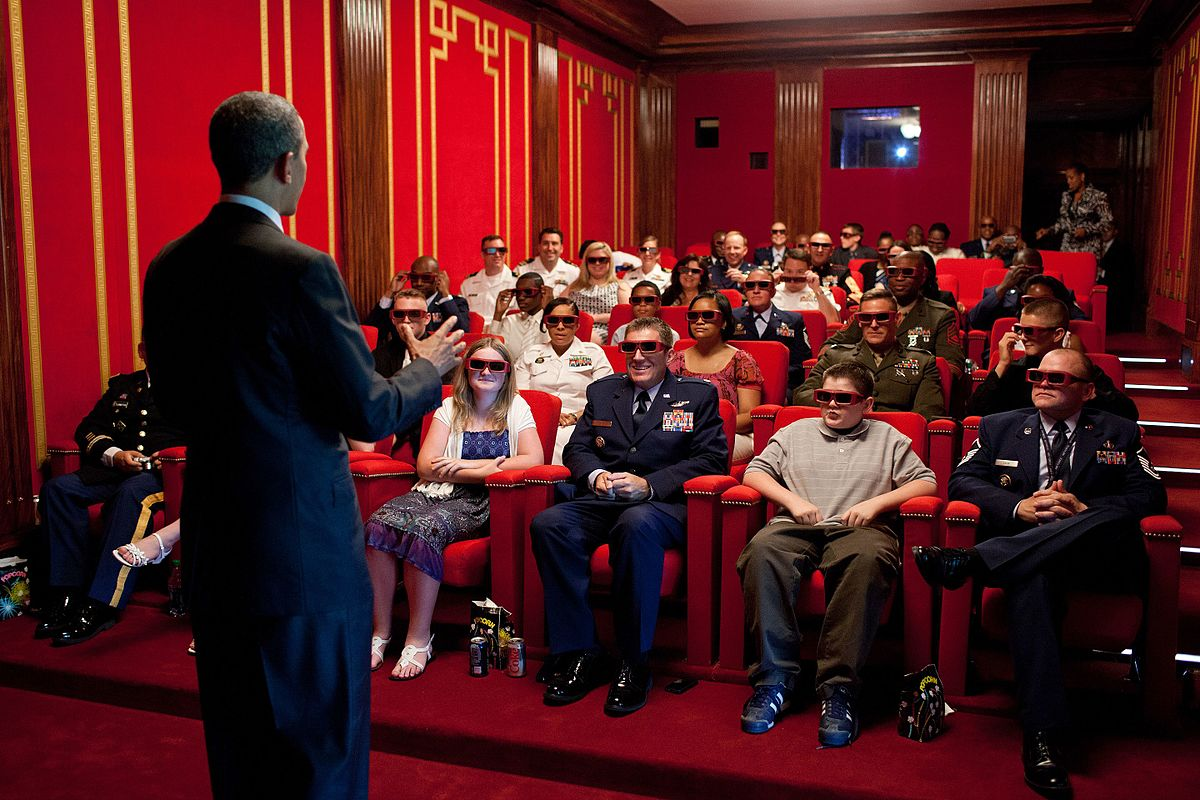 3d Cinema night at the Whitehouse.