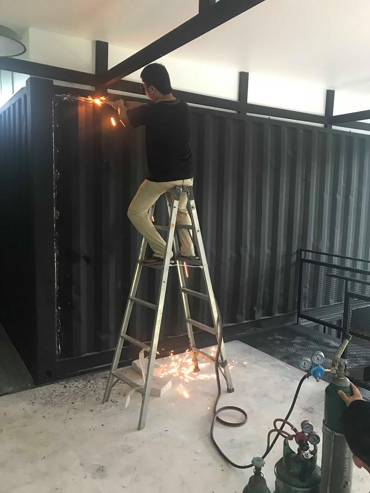 Cutting Container for our Office Door