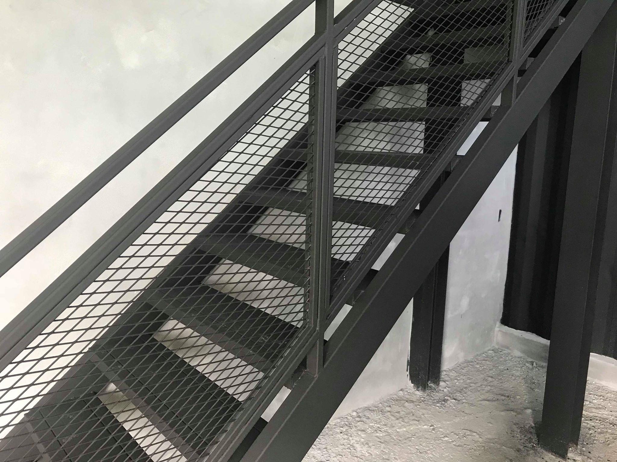 Stairs next to cinema demo room