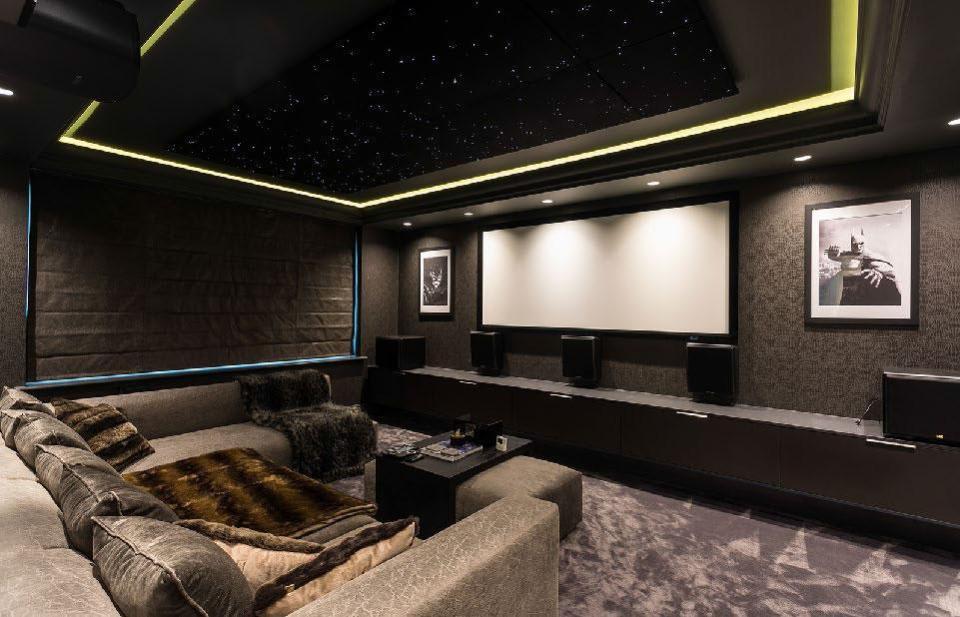 Footballer Jordan Pickford's Home Cinema in his new home in Cheshire.