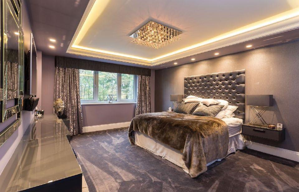 Plush Bedroom in Jordan Pickford's new Cheshire Home
