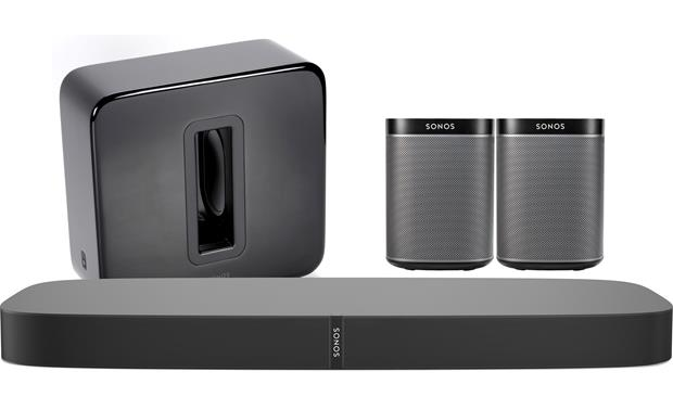 Sonos Beam Home Theatre Setup with SUB and Rear Surrounds powered by Play1