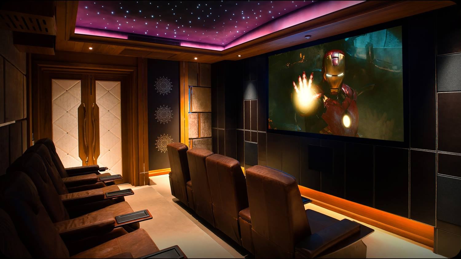 A Starfield ceiling in a home cinema (Phuket)