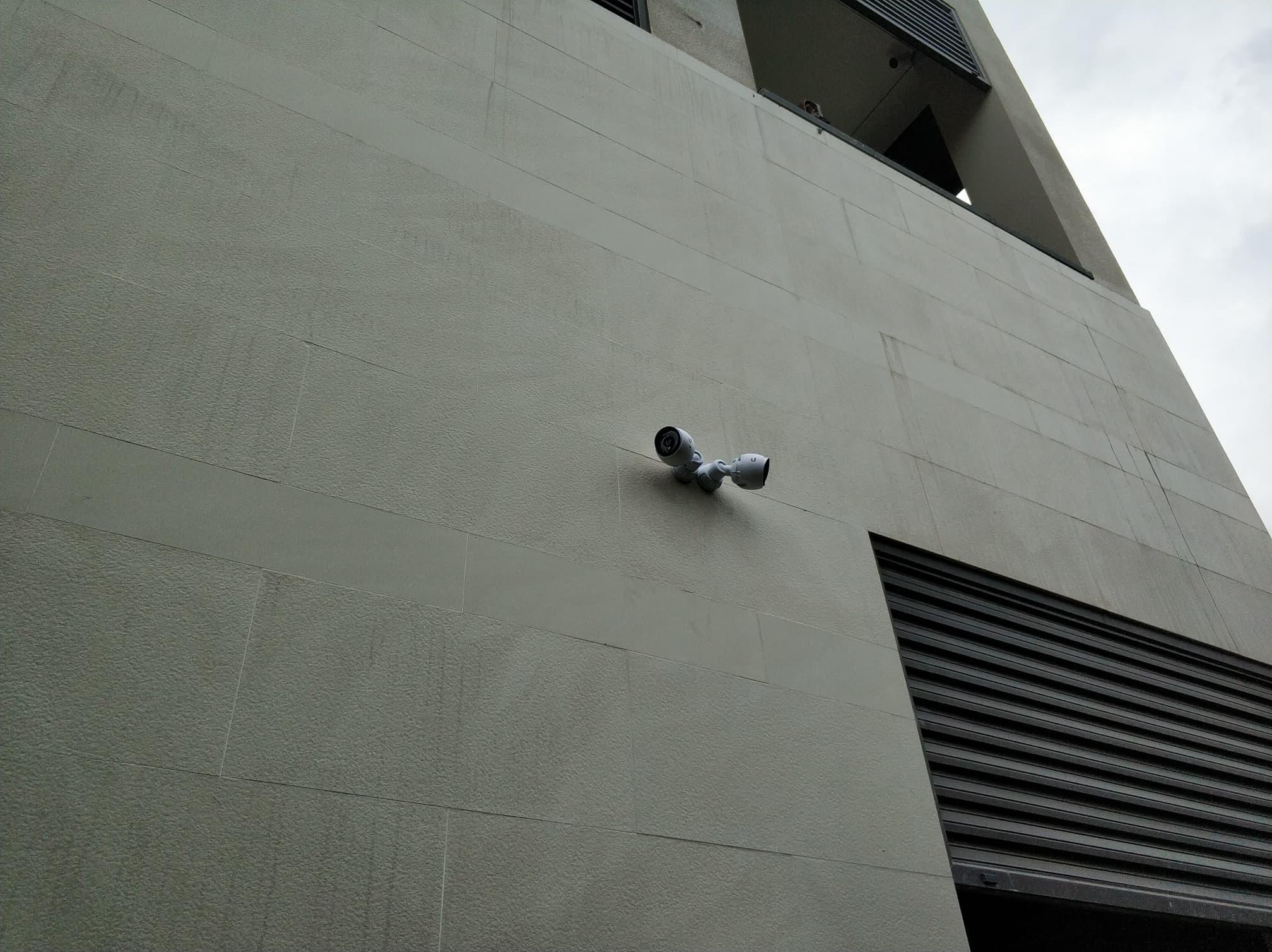 Outdoor mounted Ubiquiti CCTV Cameras (pair)